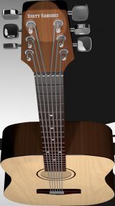 Die Gitarre, die unser Gildenmaskottchen spielt.