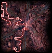 Wegbeschreibung für Arah, Weg 1