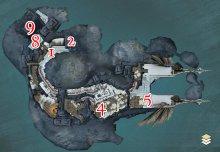 Karte der obersten Ebene in der Zierde der Wogen