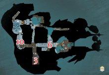 Karte der mittleren Ebene in der Zierde der Wogen