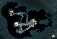 Karte der untersten Ebene in der Zierde der Wogen